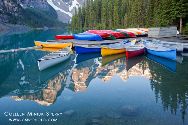Reflections at Moraine Lake by Colleen Miniuk-Sperry