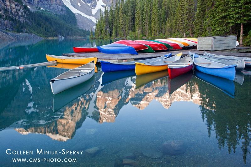 Reflections at Moraine Lake
