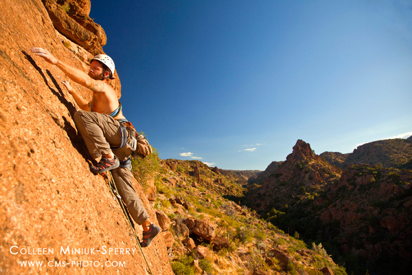 Rock Climbing in Devils Canyon by Colleen Miniuk-Sperry