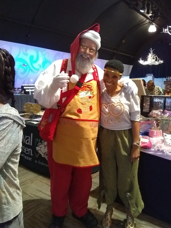 Joshland Shervette and Santa Claus at The JS Fashion Show Experience on  October 1, 2017.