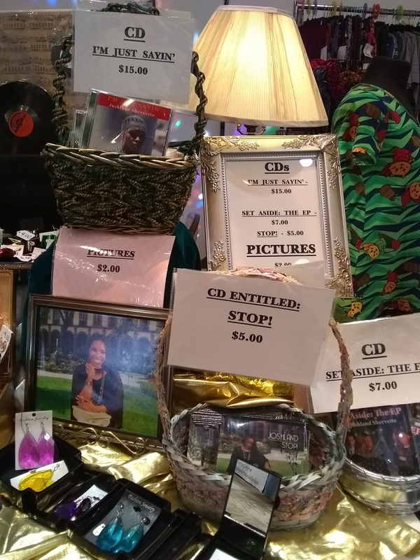 The Joshland Shervette Jewelry and CD Collection on November 12, 2017.
