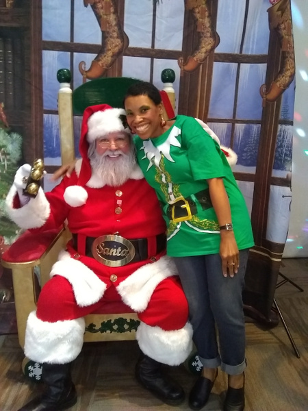 Joshland Shervette and Santa Claus at The JS Jewelry and...