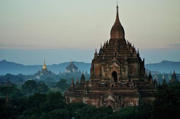 Bagan Valley Temples at Sunrise, Burma