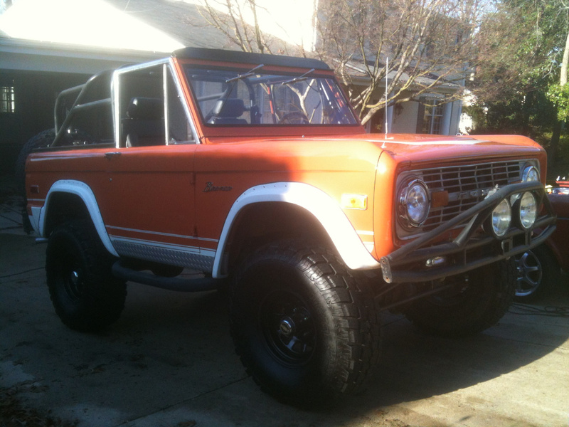 Old Bronco auto detailing