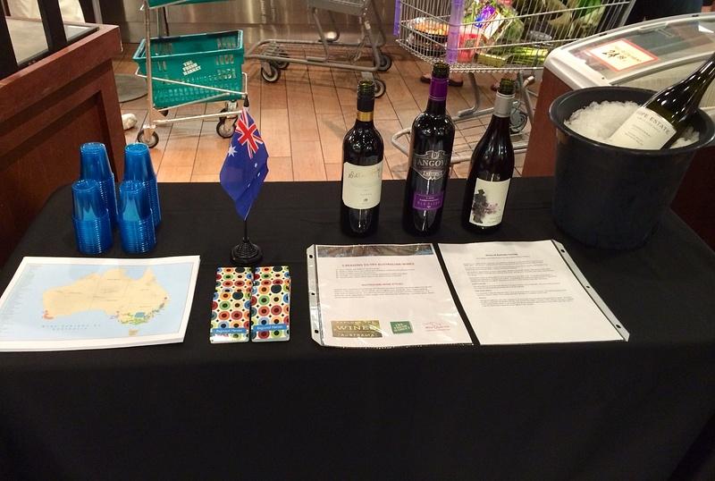 Australian wine table