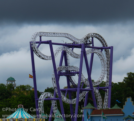 S Stockholm Sweden Amusement Park roller coaster by Carra Riley