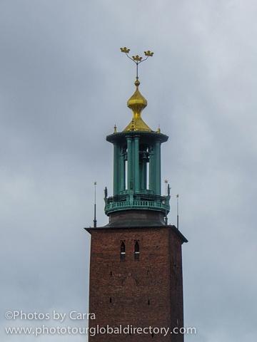 S Stockholm Sweden City Hall tower_