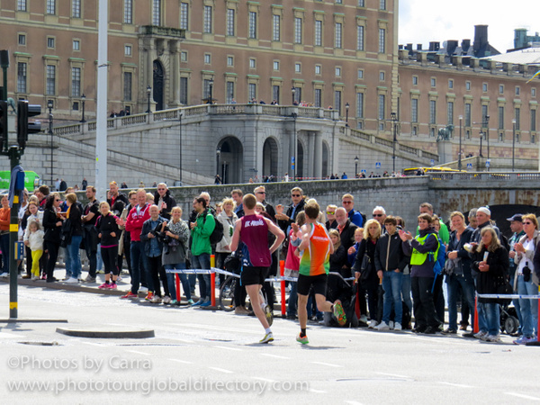 S Stockholm marathon runners by Carra Riley