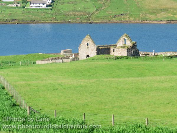 Shetland coast ruins 2 by Carra Riley