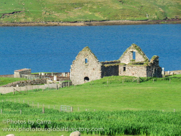 Shetland coast ruins by Carra Riley