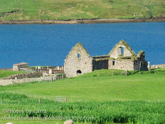 Shetland coast ruins