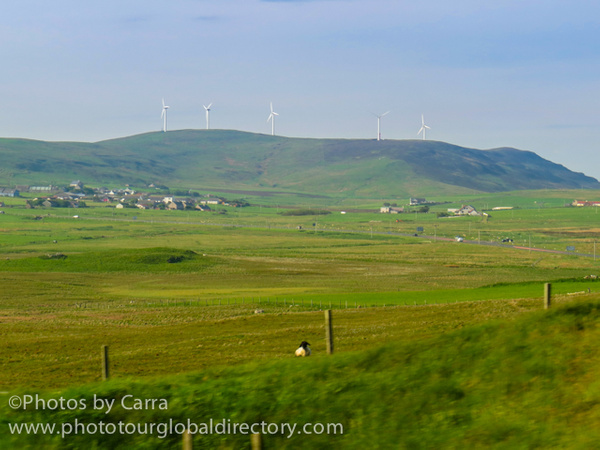 Shetland countryside wind energy by Carra Riley