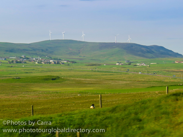 Shetland countryside wind energy