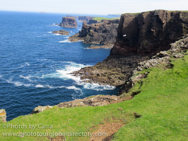 Shetland lighthouse cliffs 7 by Carra Riley