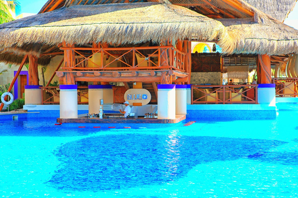 Blue Swim Up Bar by JustAGirlFromLA
