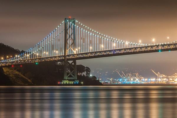 10.Bay Bridge Lights by Harvey Abernathey