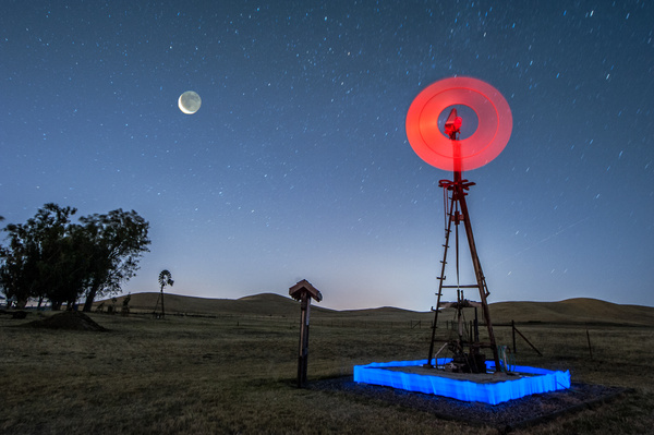 Red Windmill by Harvey Abernathey