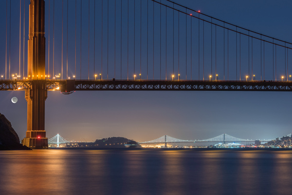 16.Golden Gate Moonrise by Harvey Abernathey