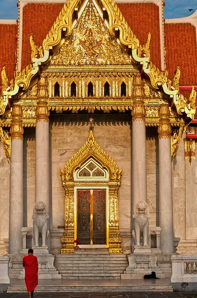 21.Temple Door wMonk by Harvey Abernathey