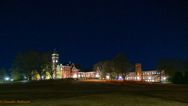 Campus at Night by CC Robinson