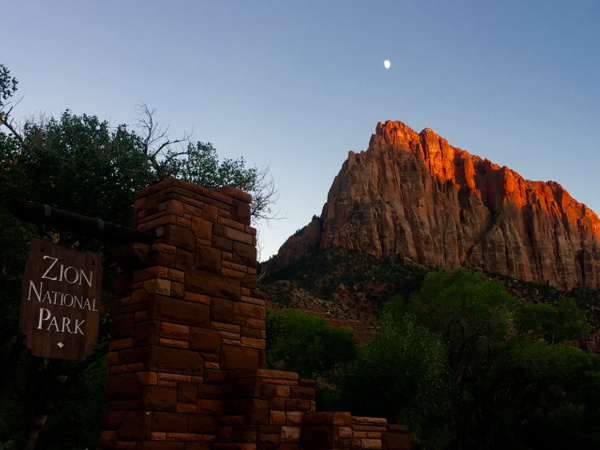 Moon at Zion by JennHicks