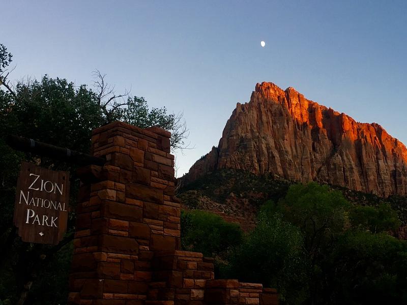 Moon at Zion