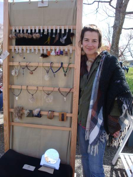 Julia on Salt Spring Market 2010