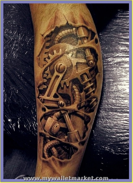 3d-machine-arm-tattoo by catherinebrightman