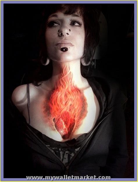 flaming-heart-tattoo