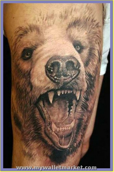 3d-tattoos-hairy-bear by catherinebrightman