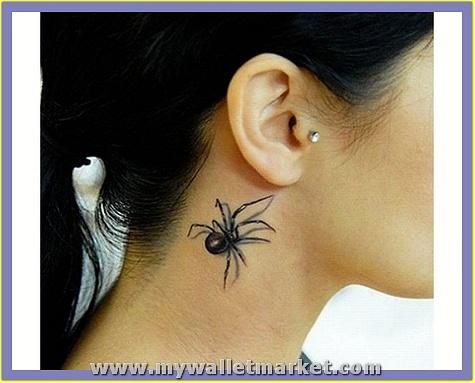3d-tattoos-spider-on-neck