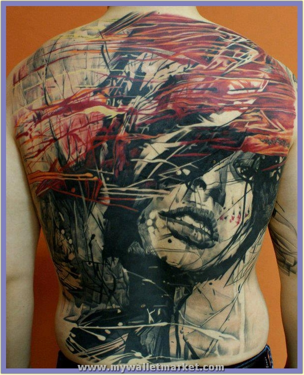 abstract-art-girl-face-tattoo-on-back