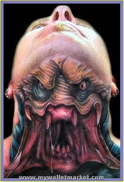 predator-neck-tattoo by catherinebrightman