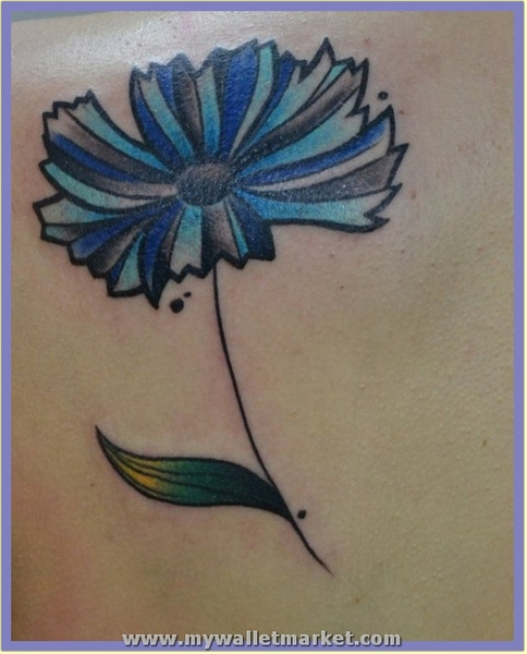 abstract-blue-daisy-tattoo by catherinebrightman