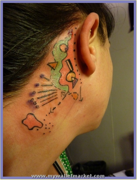 abstract-ear-head-tattoo by catherinebrightman