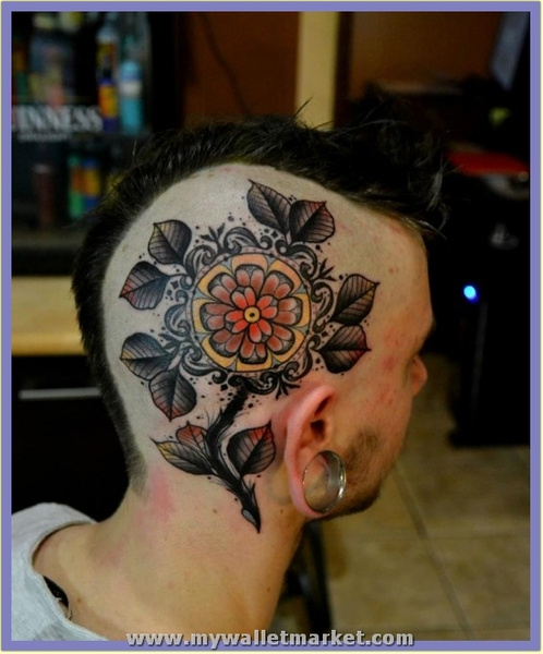 abstract-flower-head-tattoo by catherinebrightman