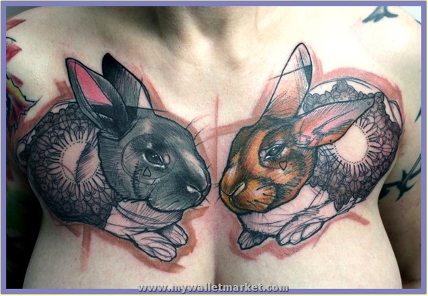 abstract-tattoo-of-two-rabbits-with-hearts-mandalas-and-f...