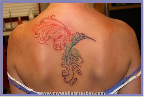 an-abstract-tattoo-design-of-a-hummingbird-in-flight by...