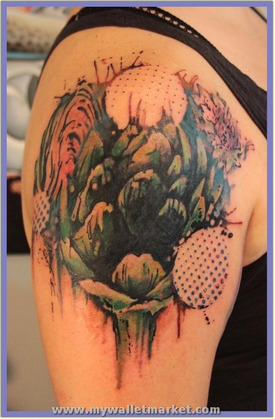artichoke_tattoo_1 by catherinebrightman