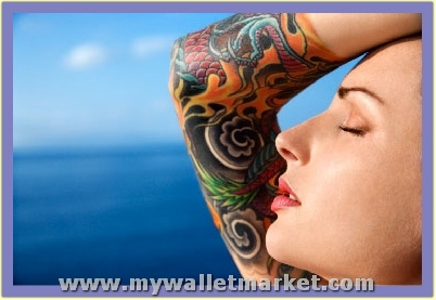 colorful-abstract-half-sleeve-tattoos-for-women by catherinebrightman