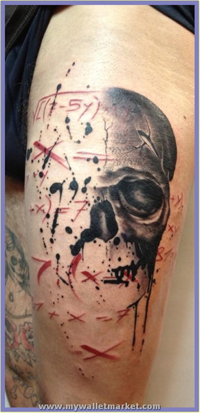 human-skull-and-mathematical-formula-in-this-abstract-tattoo-design by catherinebrightman