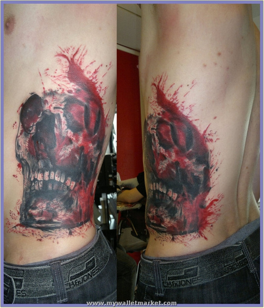 rib_skull_by_simplytattoo by catherinebrightman