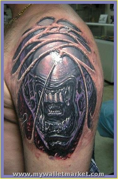 alien-tattoo by catherinebrightman