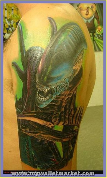 crawling-alien-tattoo-on-arm by catherinebrightman