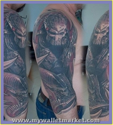 half-sleeve-alien-tattoo