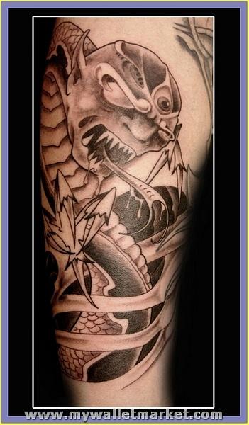 monster-alien-snake-tattoo by catherinebrightman
