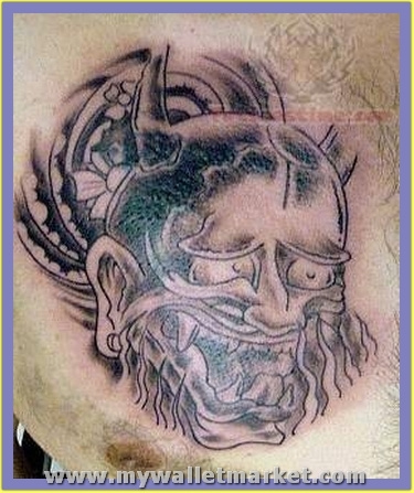 monster-head-tattoo-on-chest by catherinebrightman