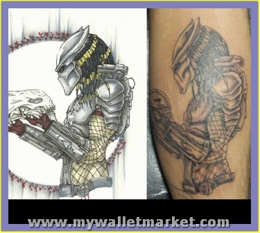 nice-predator-alien-tattoo by catherinebrightman