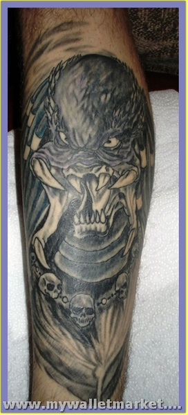 scary-alien-tattoo-design-on-arm by catherinebrightman