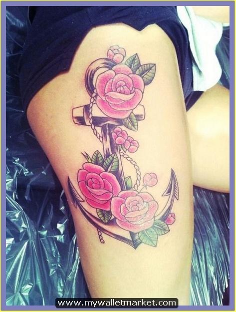 24-anchor-flower-tattoo-thigh